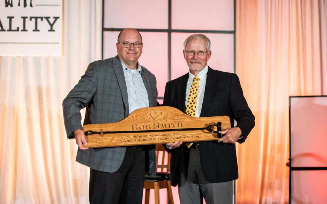 Smith receives Industry Achievement Award at Feeding Quality Forum