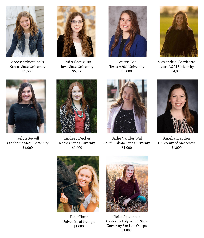 Colvin Scholarship Undergraduate winners 2021