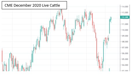 CME live cattle futures