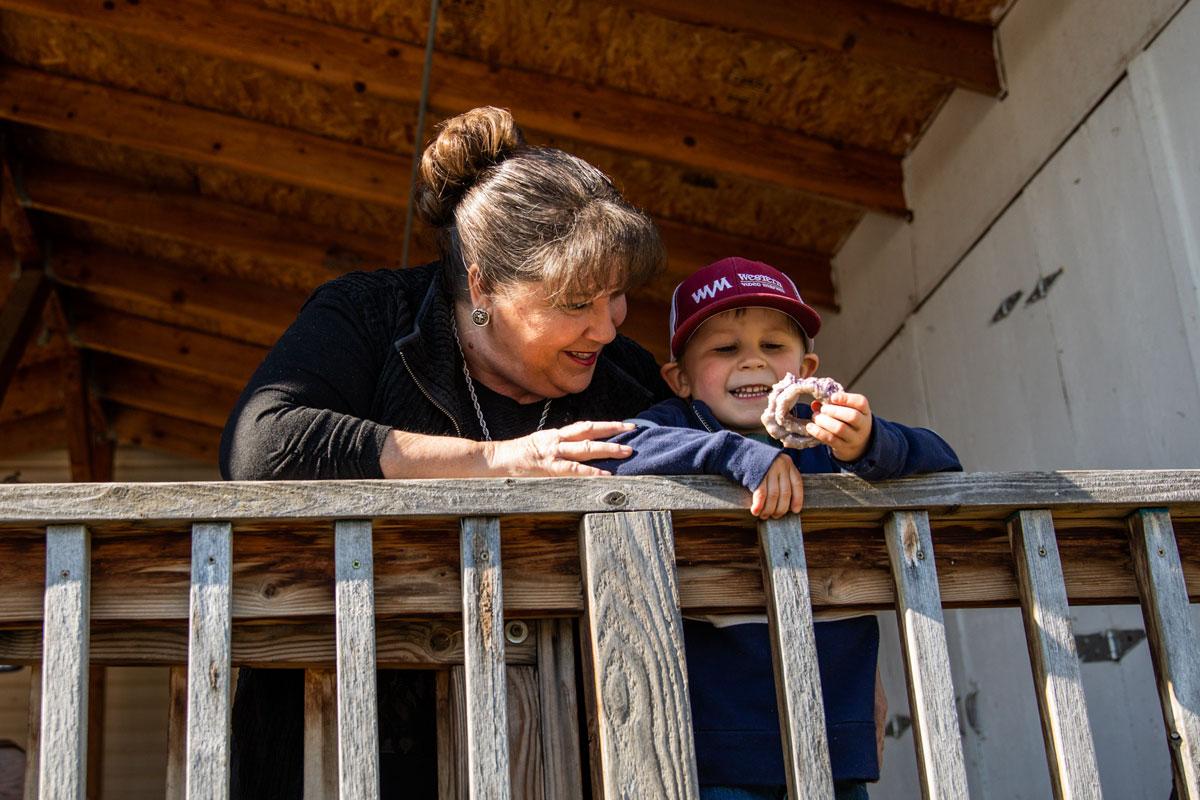 Ann and her grandson Case