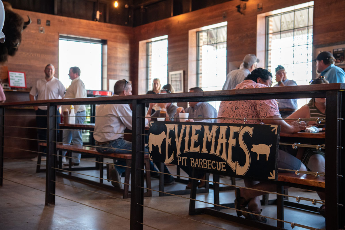 Evie Mae's BBQ restaurant seating